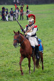 Cuirassier at Borodino battle historical reenactment in Russia Royalty Free Stock Images