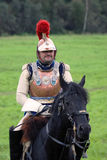Cuirassier at Borodino battle historical reenactment in Russia Stock Photos