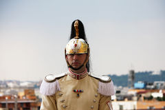 Cuirassier of Italian President of Republic Stock Photos
