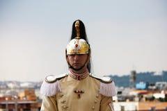 Cuirassier of Italian President of Republic Stock Photos