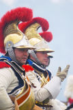 Cuirassiers from Napoleon's regiment at Borodino Royalty Free Stock Photos