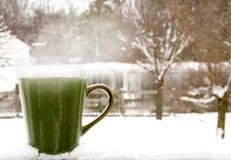 Cuire le café à la vapeur images libres de droits
