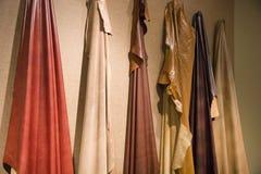 Cuirs colorés Photo stock