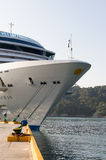 Cuise ship docked in harbor Royalty Free Stock Images