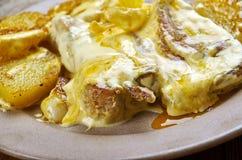 Cuiseur lent Dijon Pork Chops images stock