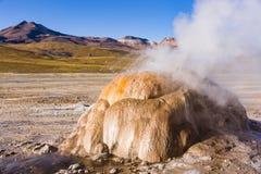 Cuisez à la vapeur d'un geyser dans la réserve nationale de flamenco de visibilité directe Photos stock