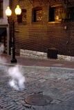 Cuisez la rue à la vapeur 2 images stock