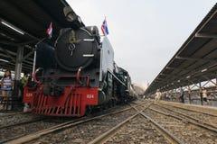 Cuisez le train à la vapeur au chemin de fer d'état de la Thaïlande 119 ans d'anniversaire Photographie stock