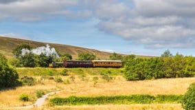 Cuisez le train à la vapeur du chemin de fer d'héritage dans Blaenavon, Pays de Galles, R-U photo libre de droits