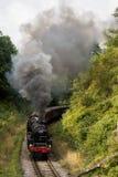 Cuisez le train à la vapeur, pente avec la plume de la fumée Image libre de droits