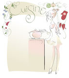 Cuisine. Design menus for a cafe with home cooking Royalty Free Stock Photography