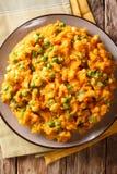 Cuisine africaine - purée d'Irio de patate douce avec les pois et photographie stock libre de droits
