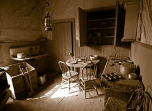 Cuisine antique Photographie stock libre de droits