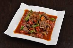 Cuisine asiatique centrale orientale photo stock