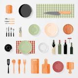 Cuisine, barre, éléments de conception de restaurant illustration stock