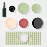Cuisine, barre, éléments de conception de restaurant Image libre de droits