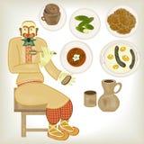 Cuisine biélorusse Photographie stock libre de droits