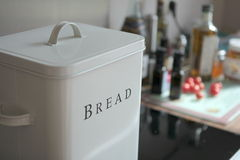 Cuisine. Bread box in the kitchen Royalty Free Stock Image