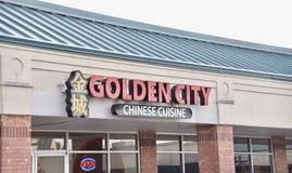 Cuisine chinoise de ville d'or, Memphis, TN photo stock