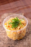 Cuisine chinoise - riz frit avec de la viande et le papper Photographie stock libre de droits