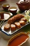 Cuisine chinoise - roulis de Sprin Photo libre de droits