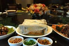 Cuisine chinoise - tofu de cadre Photos libres de droits