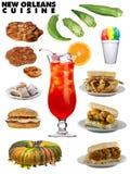 Cuisine classique de la Nouvelle-Orléans illustration de vecteur