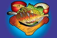 Cuisine coréenne Images libres de droits