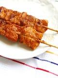 Cuisine coréenne de chiches-kebabs de viande de style photographie stock libre de droits