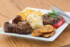 Cuisine cubaine traditionnelle Photographie stock libre de droits