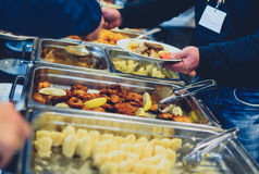 Cuisine Culinary Buffet Dinner Catering Dining Food Celebration royalty free stock photos