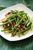 Cuisine d'haricots verts Images stock