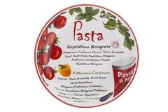 Cuisine d'Italien de plat de pâtes Photos stock