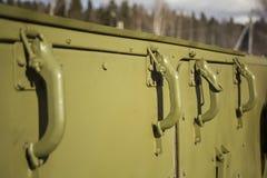 Cuisine de champ militaire Cuisson dans l'armée photographie stock
