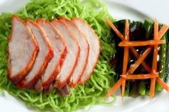 Cuisine de chiness de canard rôtie par nouille Photographie stock libre de droits