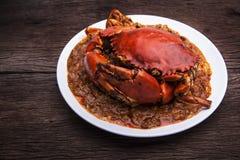 Cuisine de l'Asie de crabe de piments Image libre de droits
