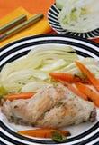 Cuisine de lapin avec le fenouil Image libre de droits