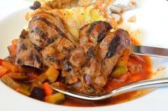 Cuisine des plats occidentaux de différents pays Image libre de droits