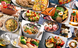 Cuisine of different countries Stock Photos