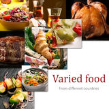 Cuisine of different countries royalty free stock image