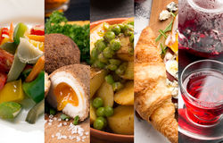 Cuisine of different countries Royalty Free Stock Images