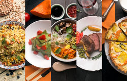 Cuisine of different countries Stock Images