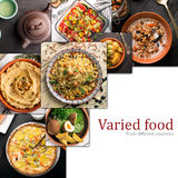 Cuisine of different countries. Western and eastern dishes Stock Photo