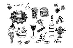 Cuisine douce Photographie stock
