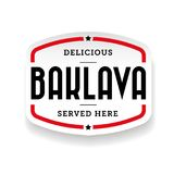 Cuisine du Moyen-Orient de baklava Photo stock