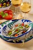Cuisine espagnole. Anchois frais marinés. Boquerones. Photos stock