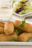 Cuisine espagnole. Croquettes de jambon. Images stock