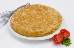 Cuisine espagnole. Morcilla De Burgos. Boudin. Image libre de droits