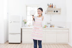 Cuisine et femmes Photos stock