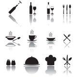 Cuisine et icônes de cuisson réglées Photo stock